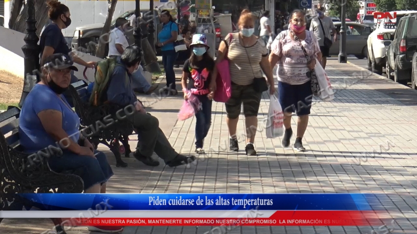 VIDEO Piden cuidarse de las altas temperaturas