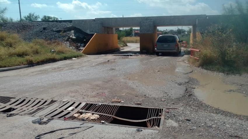 Denuncian malas condiciones de puente