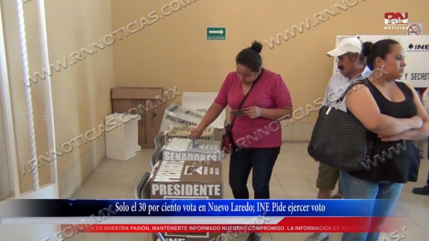 VIDEO Solo el 30 por ciento vota en Nuevo Laredo; INE Pide ejercer voto